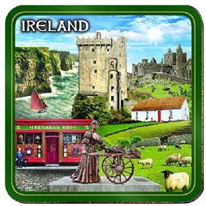 Ireland Montage Cork Backed Drinks Coaster (sg03971)
